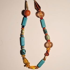 Wendy Gell Bead Collection Turquoise Amber Lucite